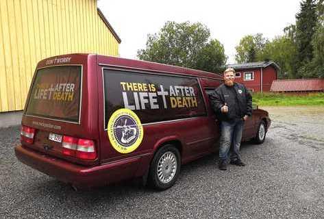 Bilen har varit likbil i Holland